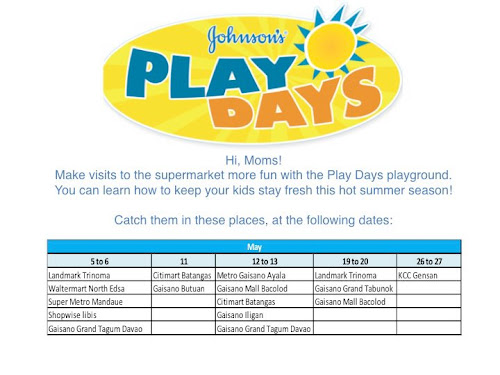 Johnson's Play Days Sched