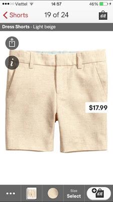 Short đùi bé trai hàng xuất dư hiệu H&M, made in cambodia.