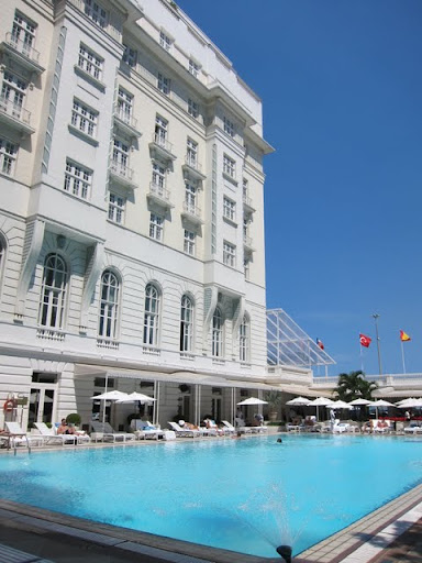 Swimming pool at the Copacabana Palace Hotel in Rio de Janeiro Brazil