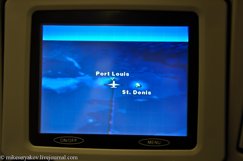 Подлетаем к Маврикию