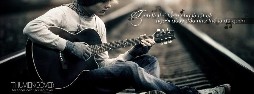 Ảnh Bìa Tình Yêu Âm Nhạc Với Hình Ảnh Bản Nhạc, Guitar, Piano
