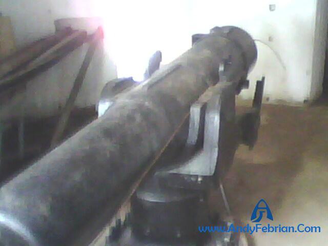 Kondisi meriam dari dalam bunker