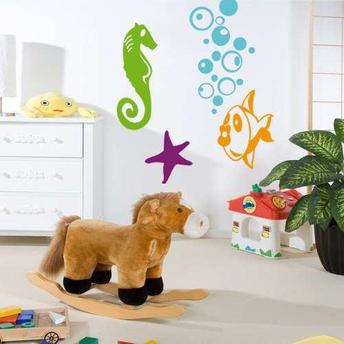 Vinilos infantiles divertidos para decorar fotos hogar for Decoracion hogares infantiles