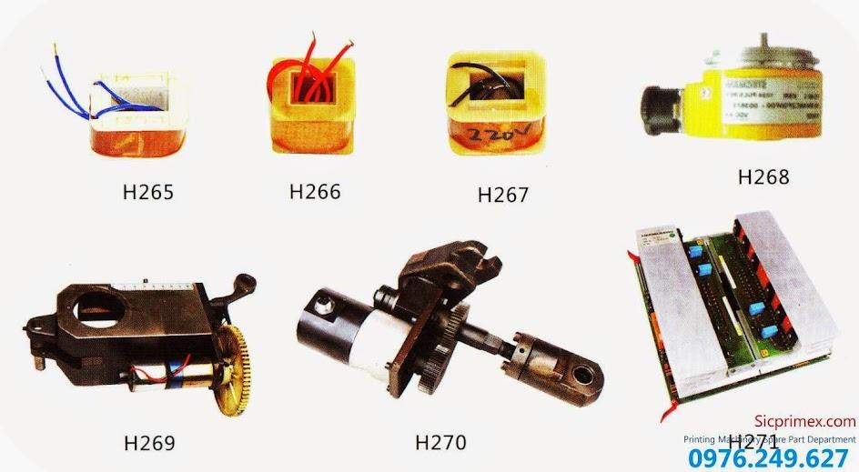 Chuyên linh kiện phụ kiện ngành in chính hãng H265-271