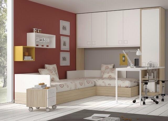 Dormitorios juveniles kids touch ros - Habitacion juvenil 2 camas ...