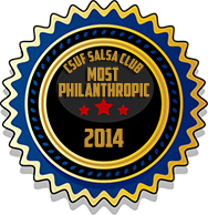 CSUF Salsa Club Most Philanthropic 2014
