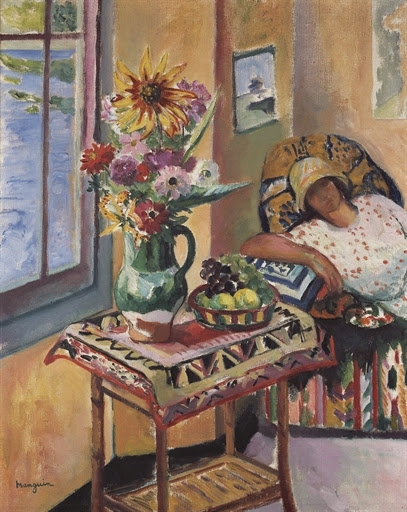 Henri-Charles Manguin - Intérieur, Lucile Manguin (fille de l'artiste)