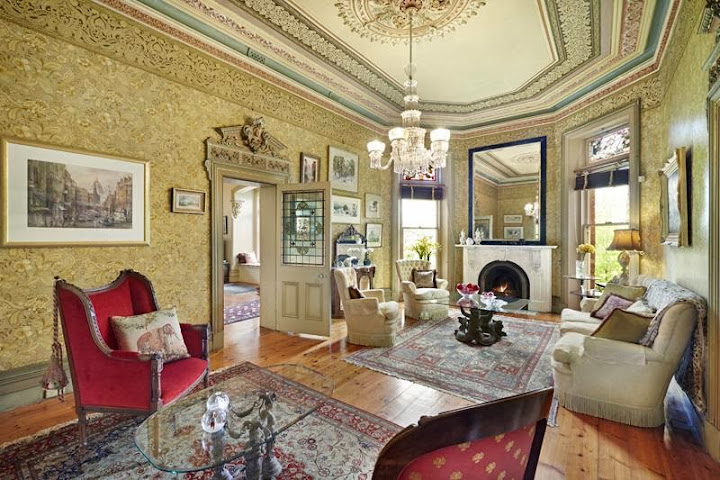 Heavy, cluttered Victorian style at Rotha, Hawthorn