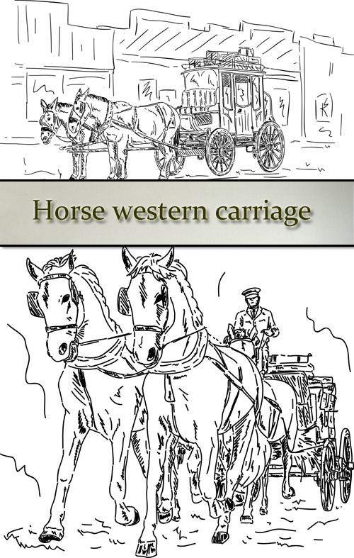 Stock: Horse western carriage