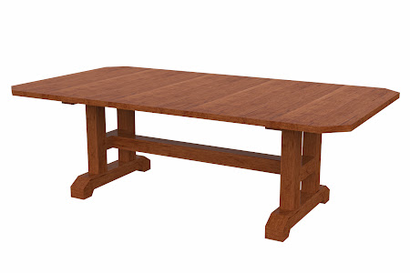 Trestle Conference Table in Itasca Maple