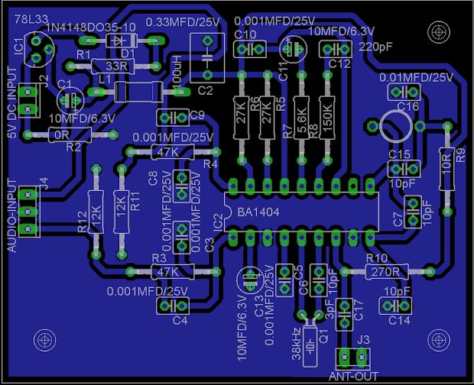 BA1404 PCB design.