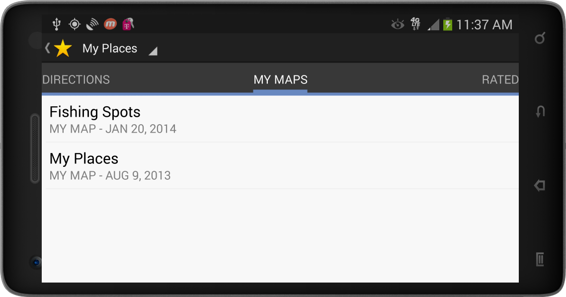 how to delete my places in google maps