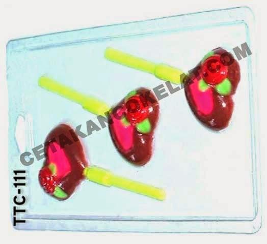 Cetakan Coklat TTC111 Lolipop Love valentine