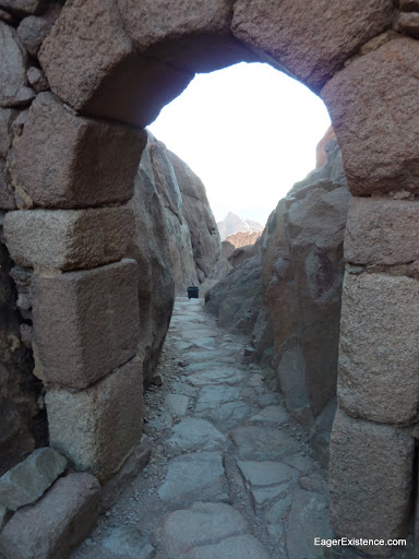 stairs down, mt. sinai