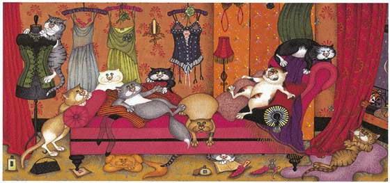 Кошки - картины художник Линда Джейн Смит