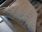 Faux bois pillow in the dining/entertaining room to coordinate with ...