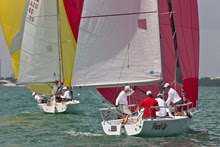 J80 sailing Bacardi Cup Miami Sailing Week