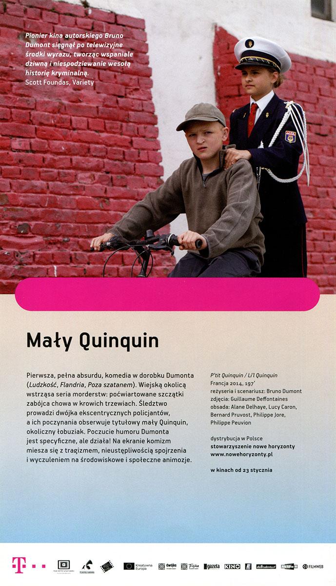 Ulotka filmu 'Mały Quinquin (tył)'