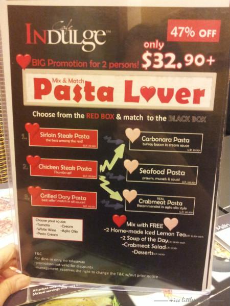 Cafe Indulge - Menu for Pasta Lover