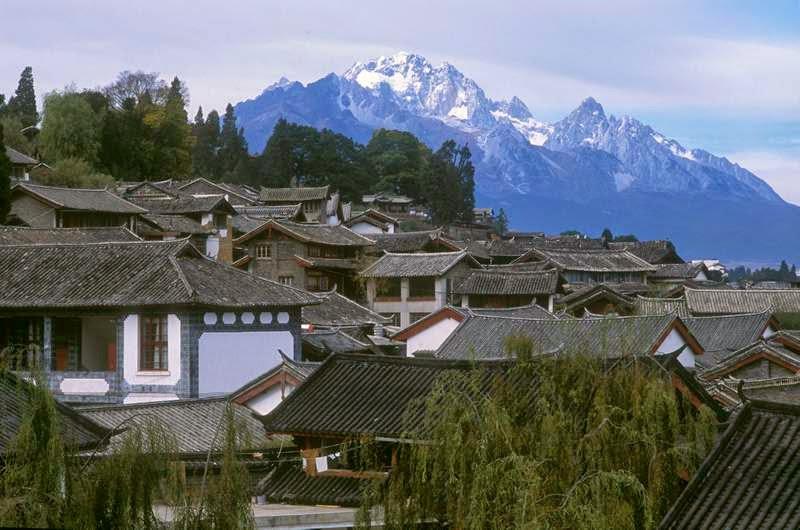麗江古城北方的玉龍雪山