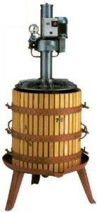 ΣΤΡΟΦΙΛΙΑ ΠΑΤΗΤΗΡΙ ΣΤΑΦΥΛΟΠΙΕΣΤΗΡΙΟ Ξύλινο πατητήρι κρασιού (πρέσα οίνου για σταφύλια και στέμφυλα,  πιεστήριο σταφυλιών-στεμφύλων) BCM ηλεκτροκίνητο (μονοφασικό ρεύμα) υδροπνευματικό