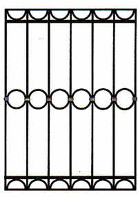 Кованая решетка артикул №05 эскиз изготовление по размерам на заказ