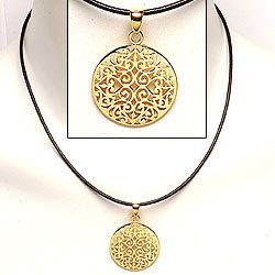 Gold pendant necklace aloadofball Images