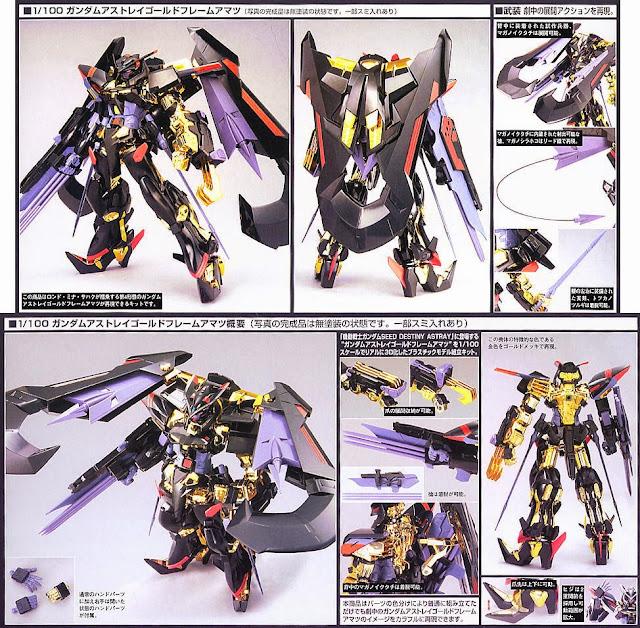 Gundam Astray Gold Frame Amatsu tỷ lệ 1/100 có màu sắc phong phú