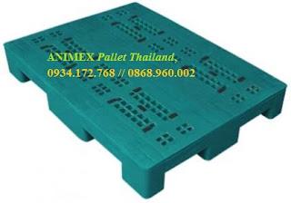 Pallet nhựa lưu kho Thái Lan hàng nặng