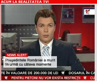 Realitatea tv live Romania news stiri presedinte mort
