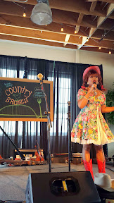 Poison Waters was on hand to MC the Portland Monthly's Country Brunch 2014 at Castaway benefiting Zenger Farm