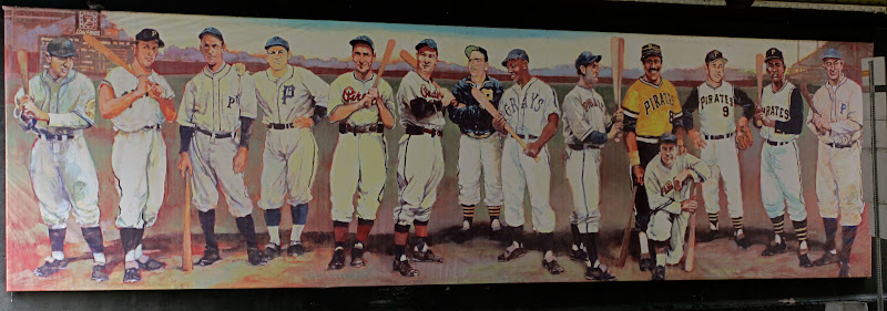 The Legends of Pittsburgh mural was a mural of some of the 'Burgh's all  time best baseball players from both the Pirates and the Homestead Grays.