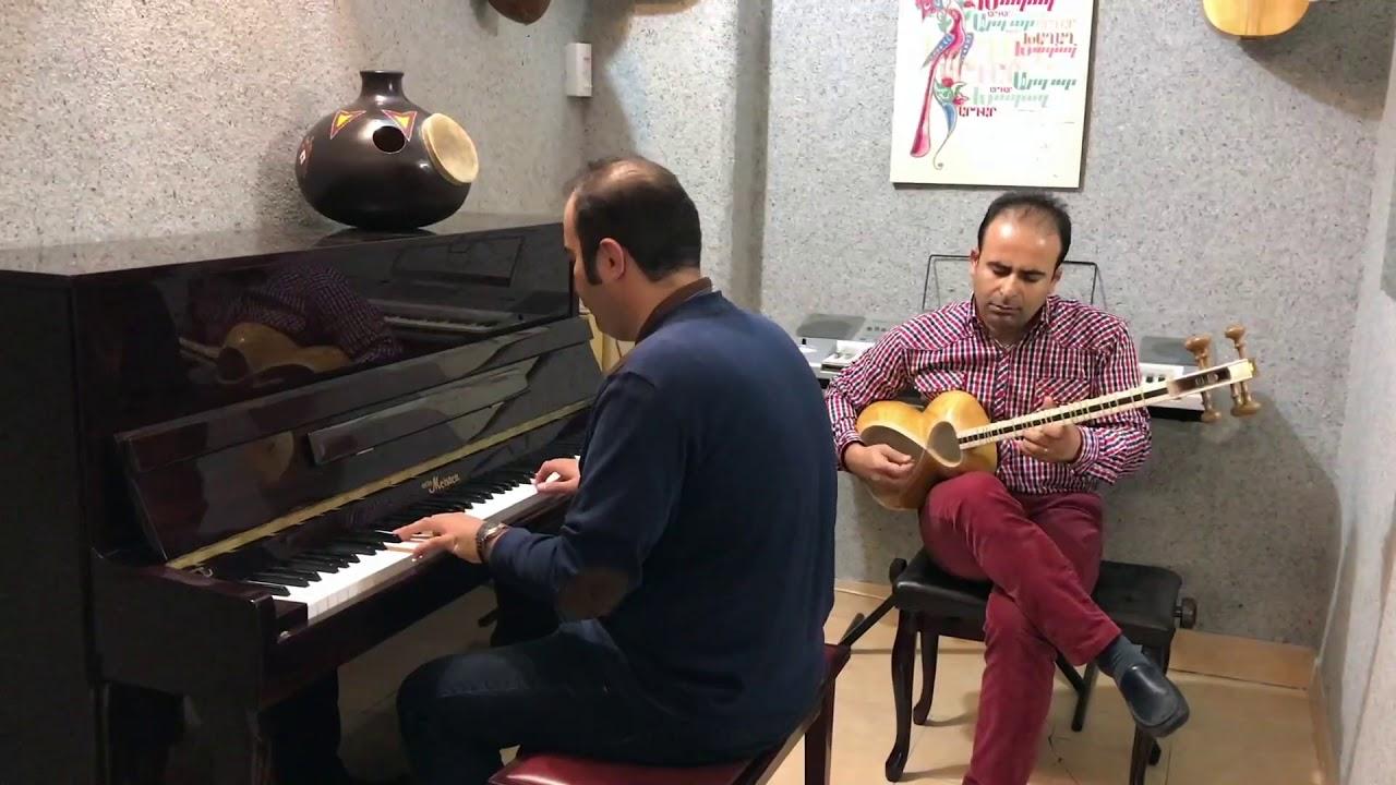 فیلم بداههنوازی بیات اصفهان می احسان نیک پیانو و نیما فریدونی تار