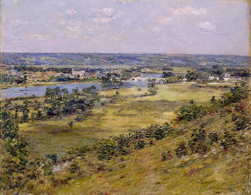 Theodore Robinson - Valley of the Seine from Giverny Heights, (1892)