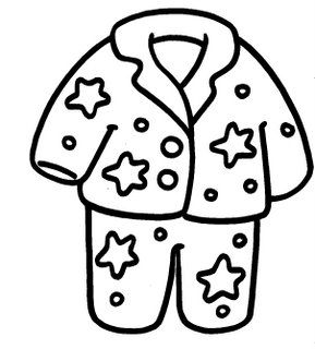 Pijama, free coloring pages