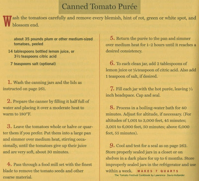 Canned Tomato Puree Recipe