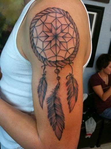 Shoulder and elbow Dreamcatcher Tattoos