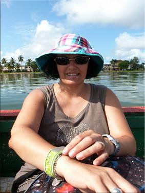 En canoa a la isla de Djilapao