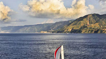Straits of Messina off Italy
