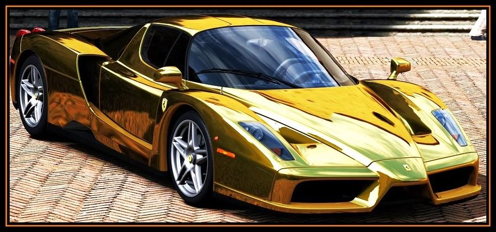 picture of Gold Ferrari