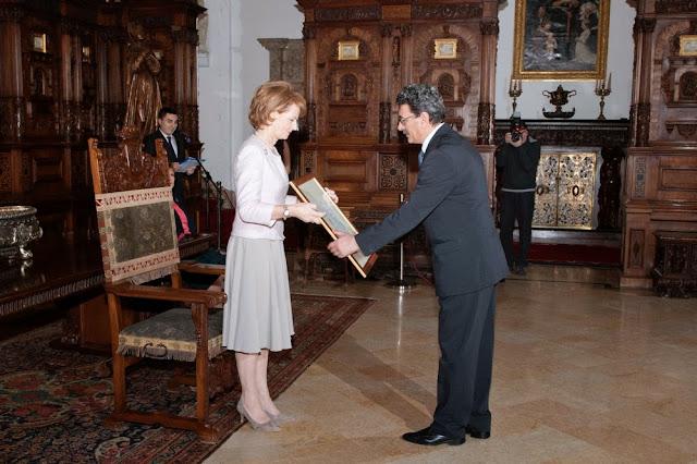 Ceremonia de învestire a unor noi Furnizori ai Casei Regale a României - Principesa Moştenitoare Margareta