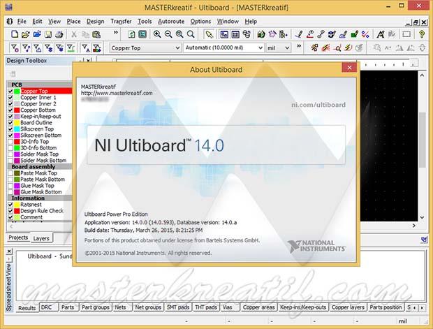 NI Ultiboard 14.0
