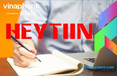 Gói HEYTIIN VinaPhone nhận 4GB, Nghe nhạc MP3 Zing, Chat Zalo không giới hạn
