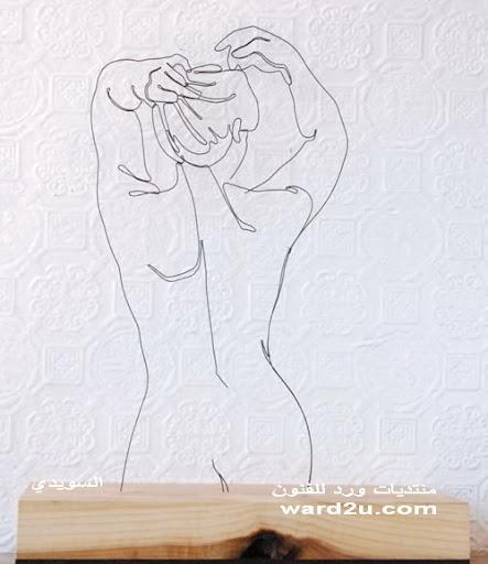 رسم لوحات بالسلك فى الفراغ