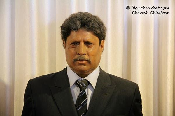 Kapil Dev's wax statue at Celebrity Wax Museum of Lonavala