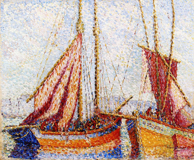 Henri-Edmond Cross - Sailboats