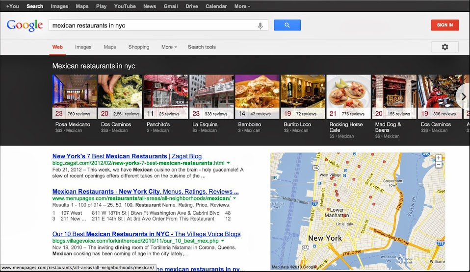 Google Local Search New