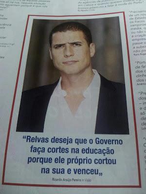 Miguel Relvas e os cortes na Educação por Ricardo Araújo Pereira