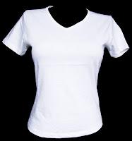 Camiseta de franela blanca