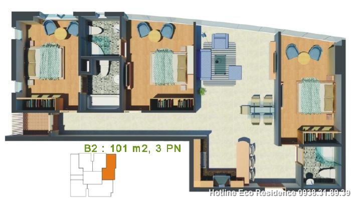 Căn hộ Eco Residence, D2, Bình Thạnh
